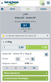 Bet-at-home App Live Wetten
