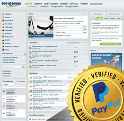 Bet-at-home Wettanbieter Webseite