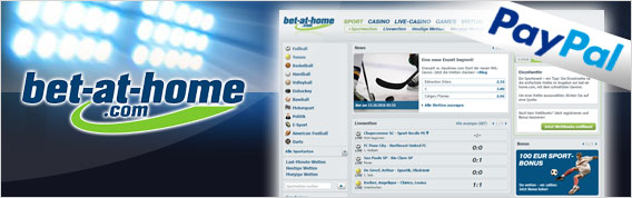 Bet-at-home Wettanbieter mit PayPal