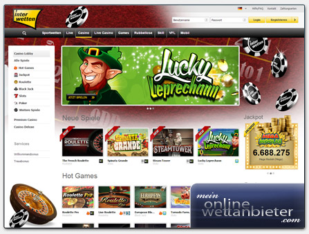 Interwetten Casino Webseite